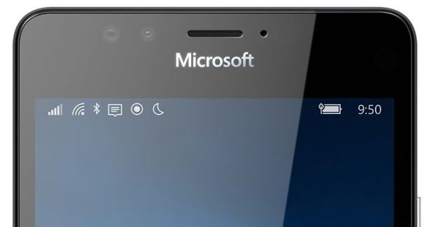 Lumia 950 front logo microsoft