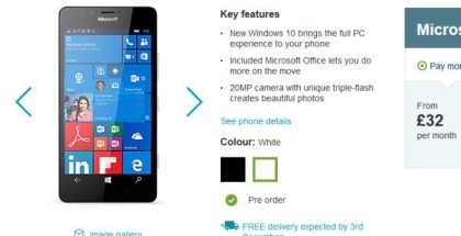 carphone warehouse lumia 950