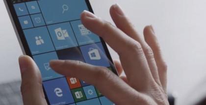 Windows 10 Mobile Start Screen