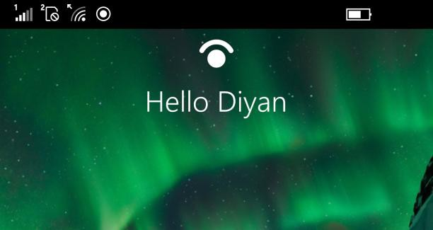 Windows Hello Diyan