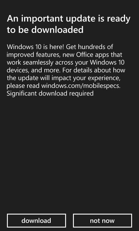 WIndows 10 Mobile is here Update from 8.1