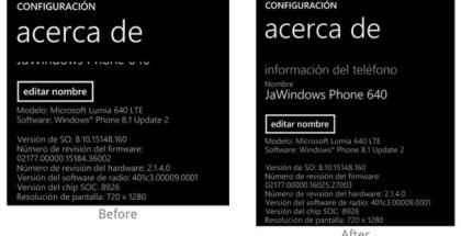 Lumia 640 and 640 XL firmware update