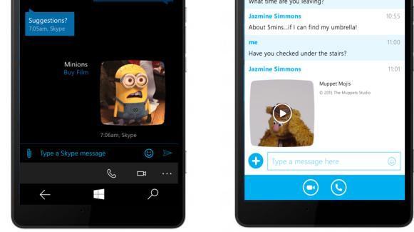 Skype for Windows pHone photo sharing