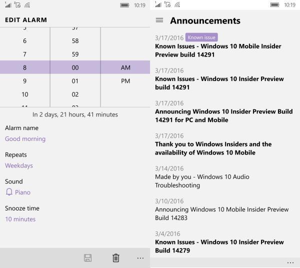 Alarms and Feedback Hub