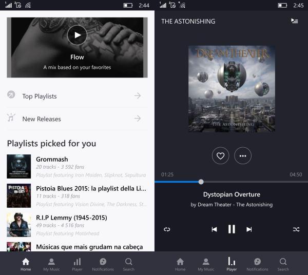 Deezer app for windows 10 mobile