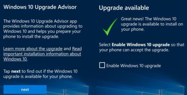 Upgrade Advisor app