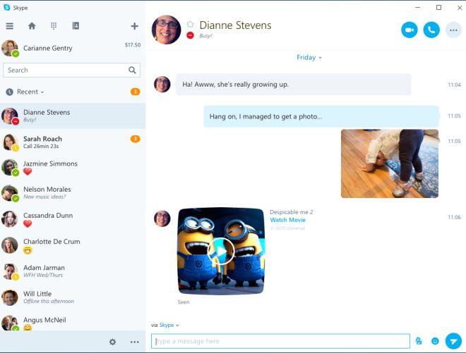 Skype new universal app
