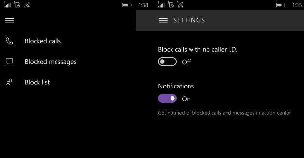 Call block filter