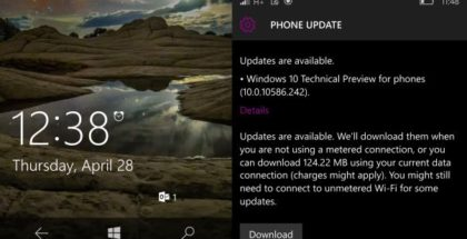 Windows 10 Mobile build 10586.242