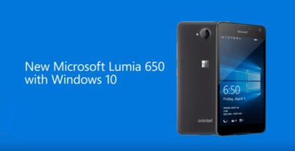 Lumia 650 for Cricket