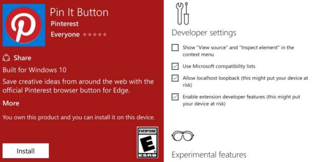 Edge add-ons possibly coming to Windows 10 Mobile Redstone