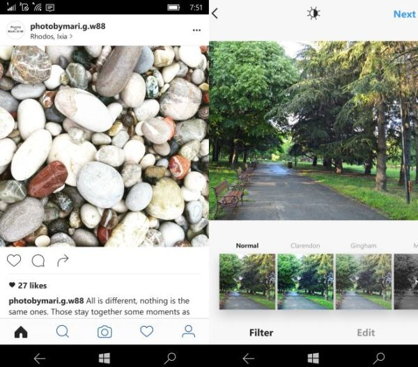 Instagram version 8.0 for Windows