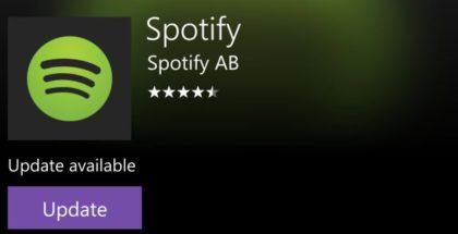 Spotify store update