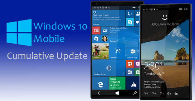 Windows 10 Mobile Cumulative Update