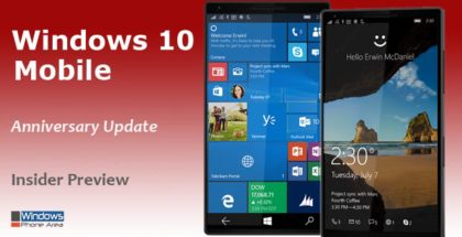 Windows 10 Mobile Anniversary Update Insider Preview Build