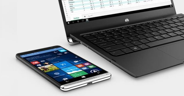 HP Elite x3 phone and laptop dock