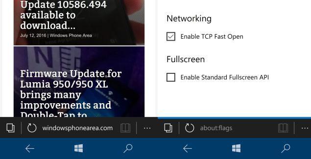 tcp fast open Microsoft edge