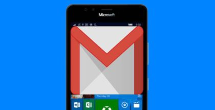 Lumia Windows 10 Mobile Gmail Google logo