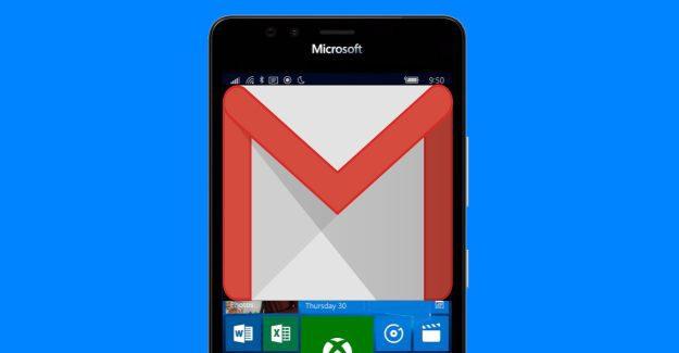 Lumia Windows 10 Mobile Gmail Google logo