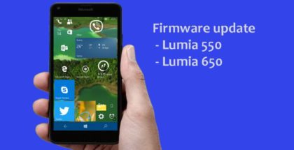 Firmware update Lumia 650 550