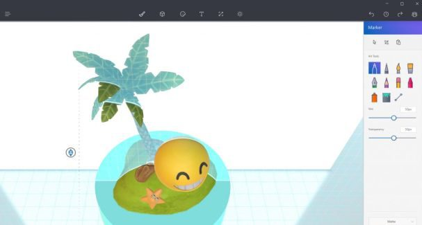 Paint 3D coming to Windows 10 Mobile with the Creators Update
