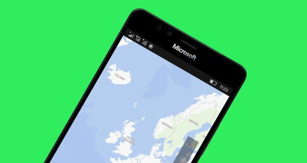 Windows Maps app phone mobile 10 Microsoft