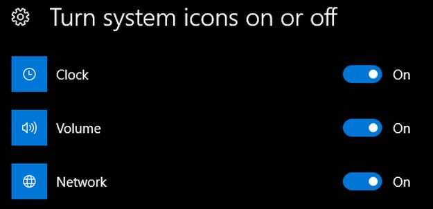 How to hide system app icons from the Windows 10's Taskbar