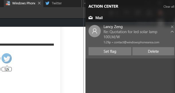Mail Outlook app