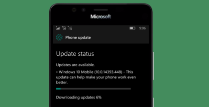 Update 14393.448 Windows 10 Mobile