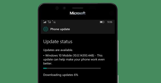 Update 14393.448 Windows 10 Mobile