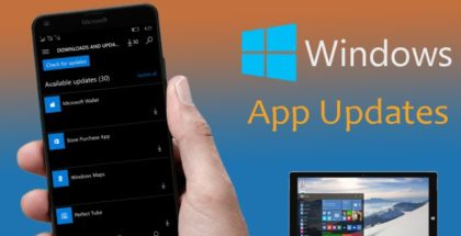 Windows Store app updates phone pc windows 10 mobile