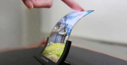 LG OLED foldable screen display