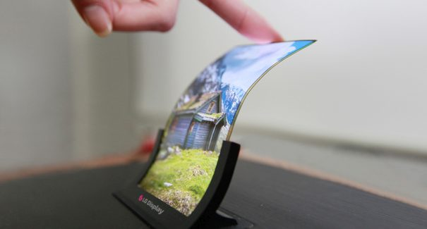 LG OLED foldable screen display