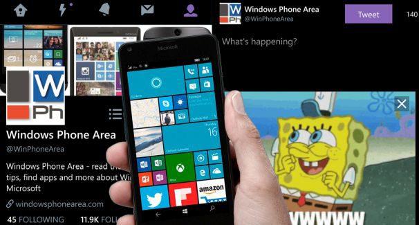 Twitter app for Windows 10 Phone