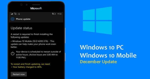 Windows 10 Mobile December 2016