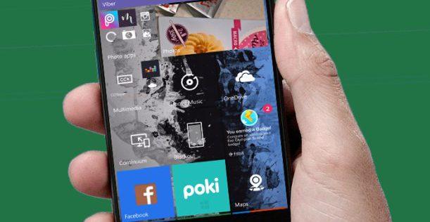 Windows 10 Mobile Start Lumia phone tiles