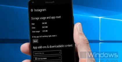 Instagram UWP reset app Windows 10