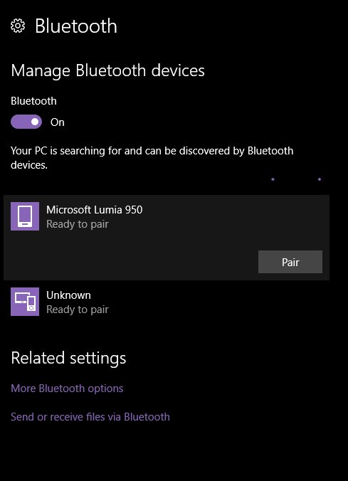 Bluetooth pair Windows 10