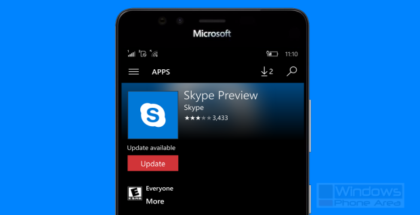 Skype Preview app update store