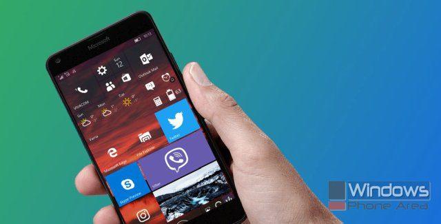 Windows 10 Mobile Lumia phone