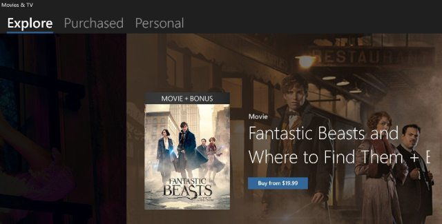 Movies & TV updated with a combined library and tabbed interface