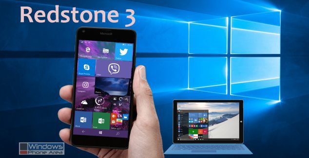 redstone 3 RS3 update windows 10 mobile
