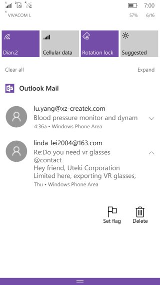 Outlook Mail Action Center Icons