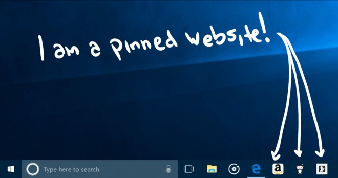 Microsoft Edge Pin sites