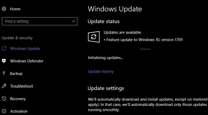 Windows 10 Fall Update 1709