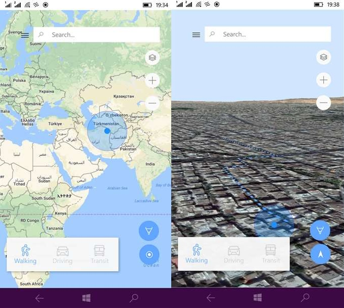 WinGo Maps is an unofficial Google Maps client