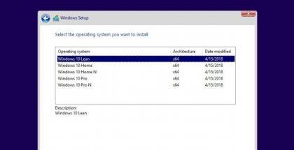 Windows 10 Lean CoreOS