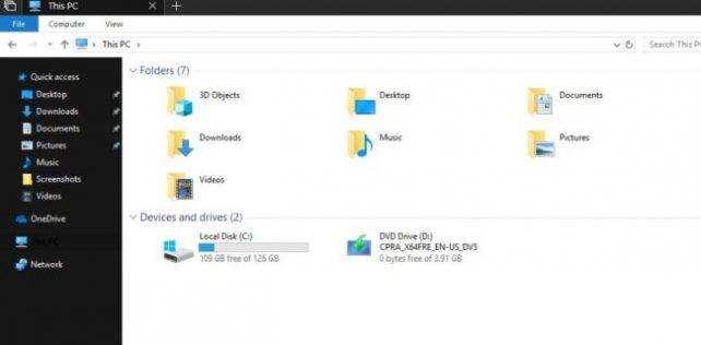 File Explorer Dark Theme