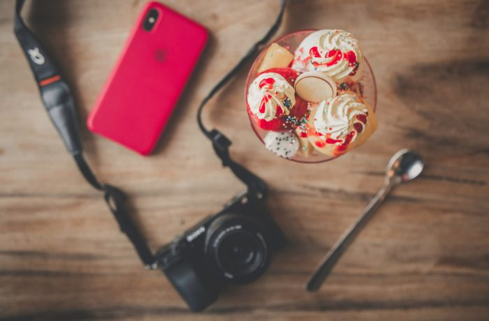 """Black Dslr Camera, Teaspoon, Ice Cream a"" (CC BY 2.0) by Toolstotal"