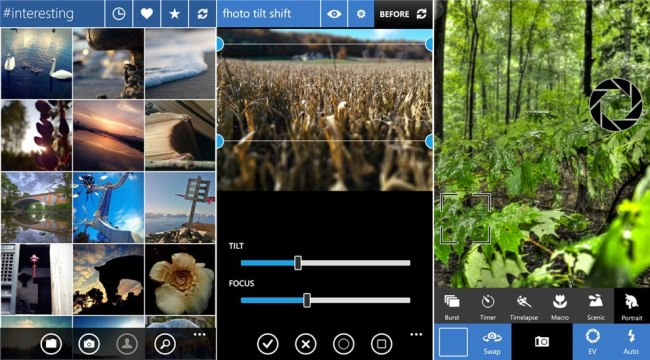 fhotoroom for Windows Phone 8 screens